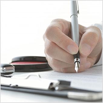 内容を十分ご理解いただきましたら、署名と捺印になります。